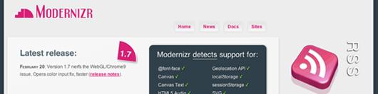Modernizr - gutes Fallback-Framwork für HTML5 und CSS3