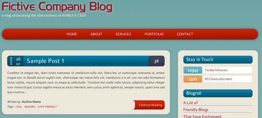Build a HTML5/CSS3 Website Layout Without Images – Part 1