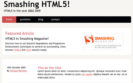 Coding a HTML5 Layout from Scratch