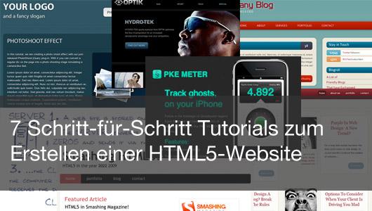 7 Schritt-für-Schritt Tutorials zum Erstellen einer HTML5-Website
