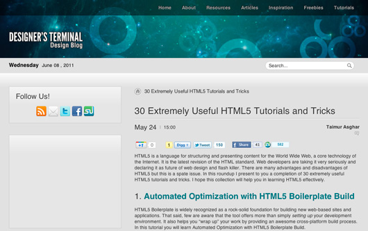 30 Extremely Useful HTML5 Tutorials and Tricks