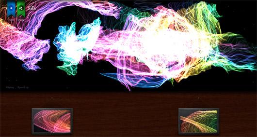 Silk: Experimentelle Anwendung per HTML5 Canvas