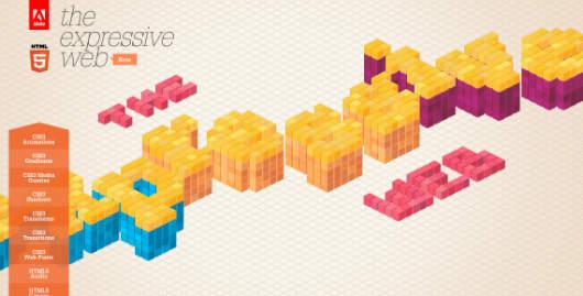 Eindrucksvolles HTML5 Showcase mad by Adobe