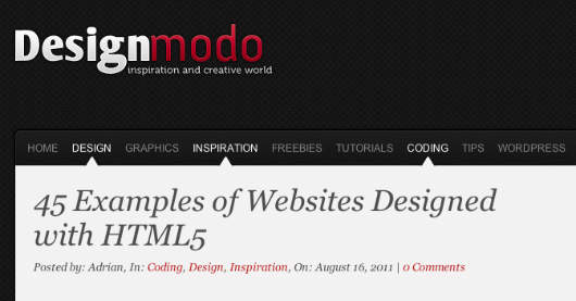 45 Examples of Websites Designed with HTML5