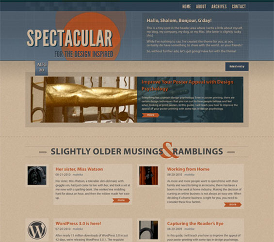 preview 7 kostenlose HTML5 WordPress Themes