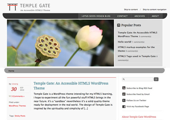 templage html5 wordpress theme 7 kostenlose HTML5 WordPress Themes